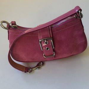 Coach suede with Patent leather purse